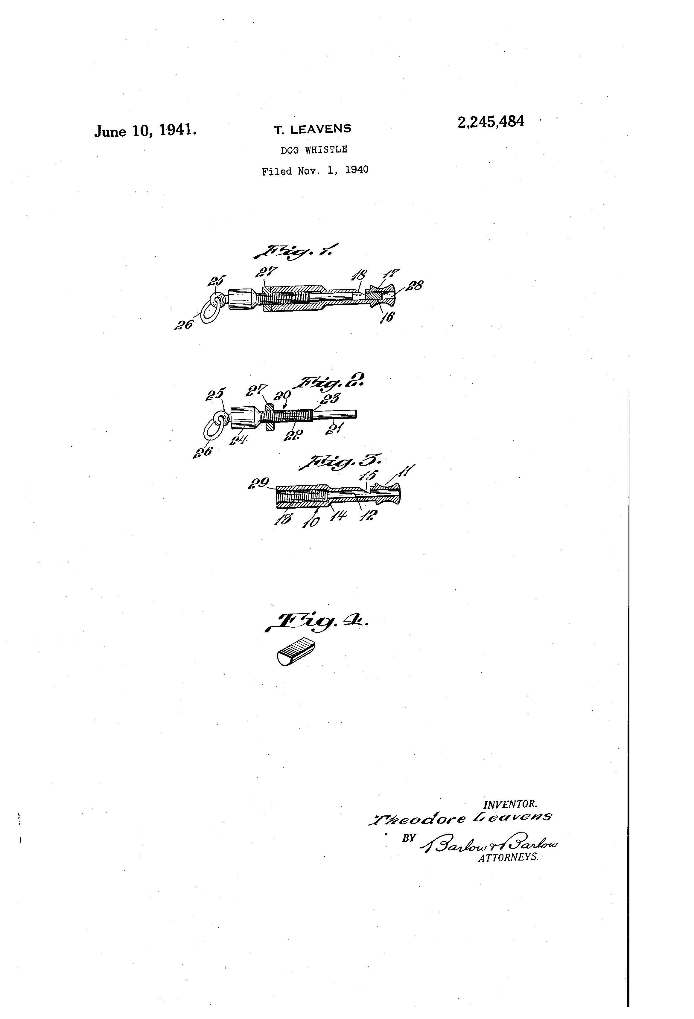 Patent of the day dog whistle suiter swantz omaha ne dog whistle blueprint malvernweather Gallery