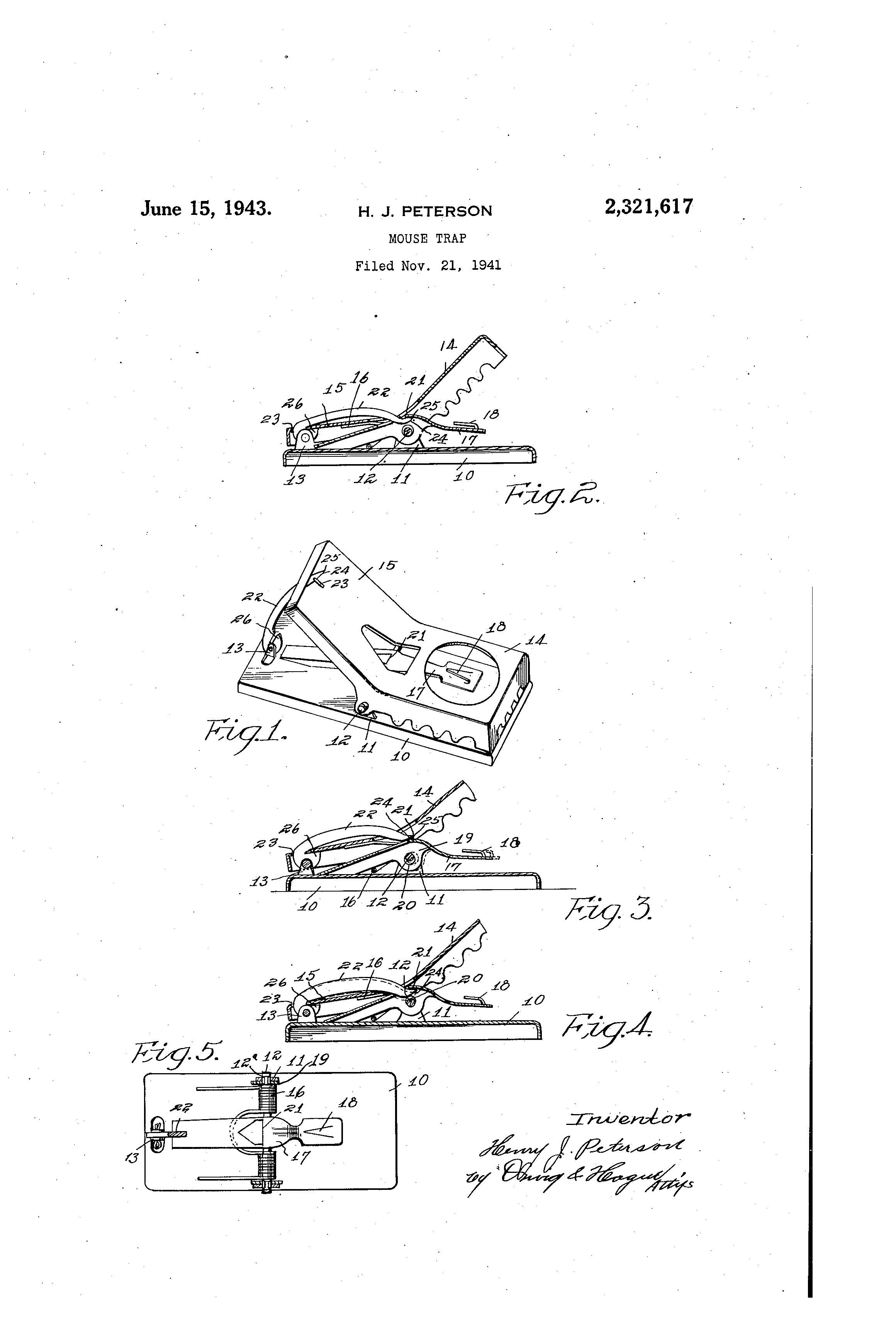 mouse trap patent blueprint