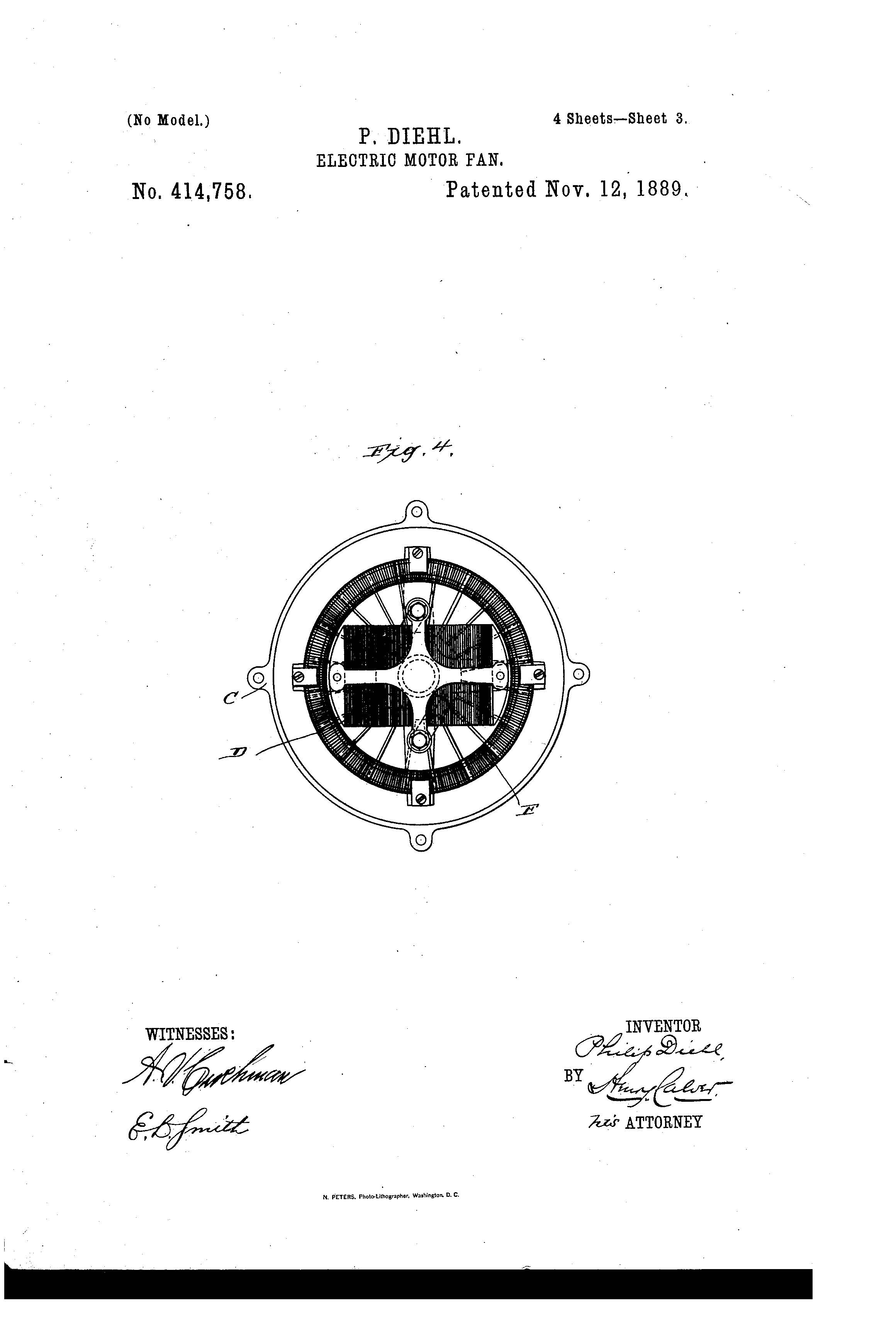 Patent of the Day Electric Motor Fan – Diehl Electric Motors Wiring Diagram