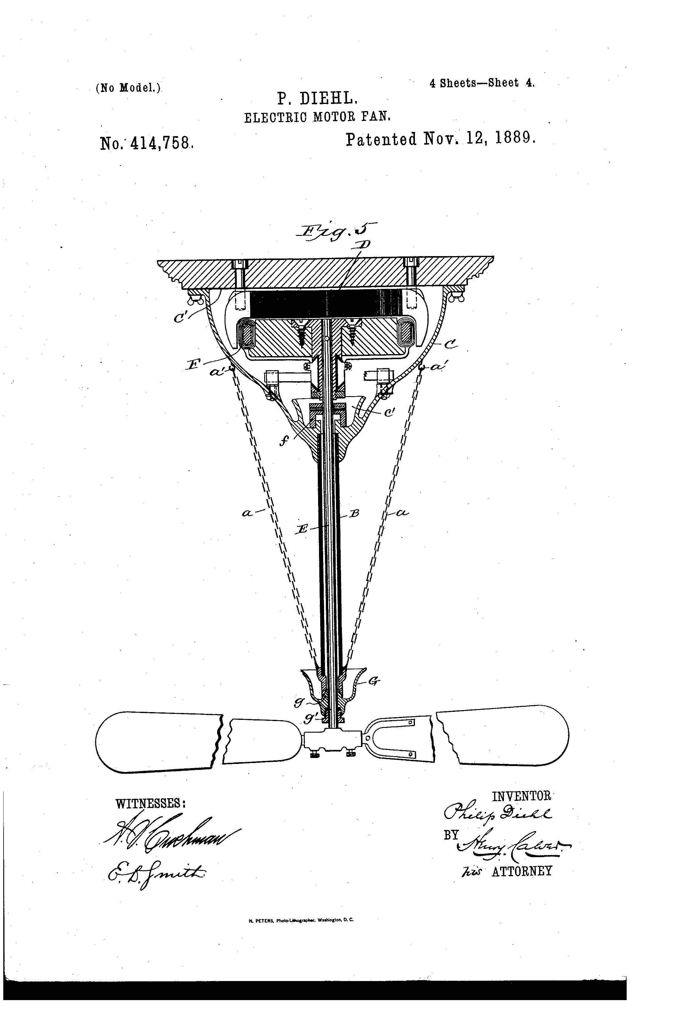 patent of the day  electric motor fan