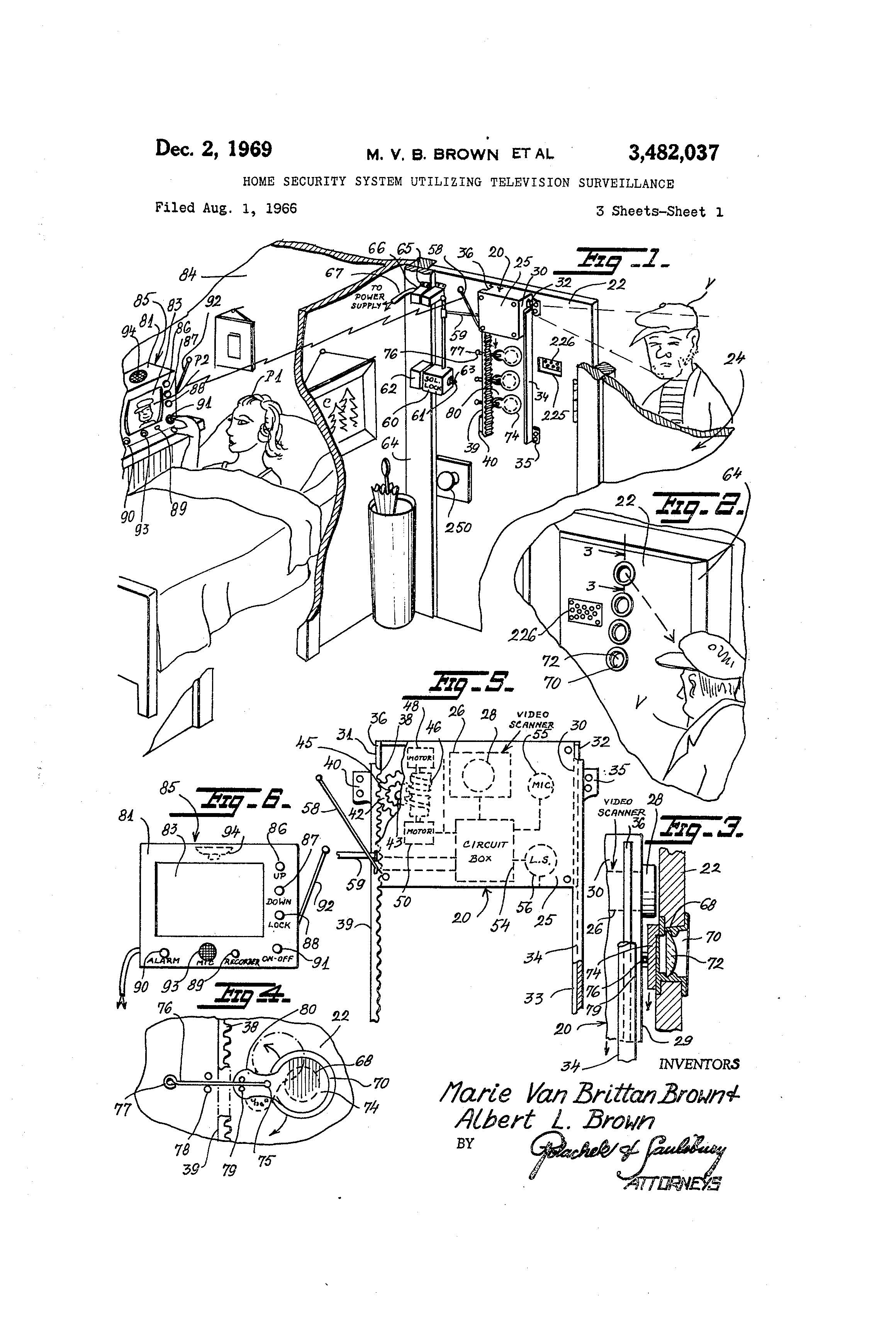 patent of the day  home security system utilizing