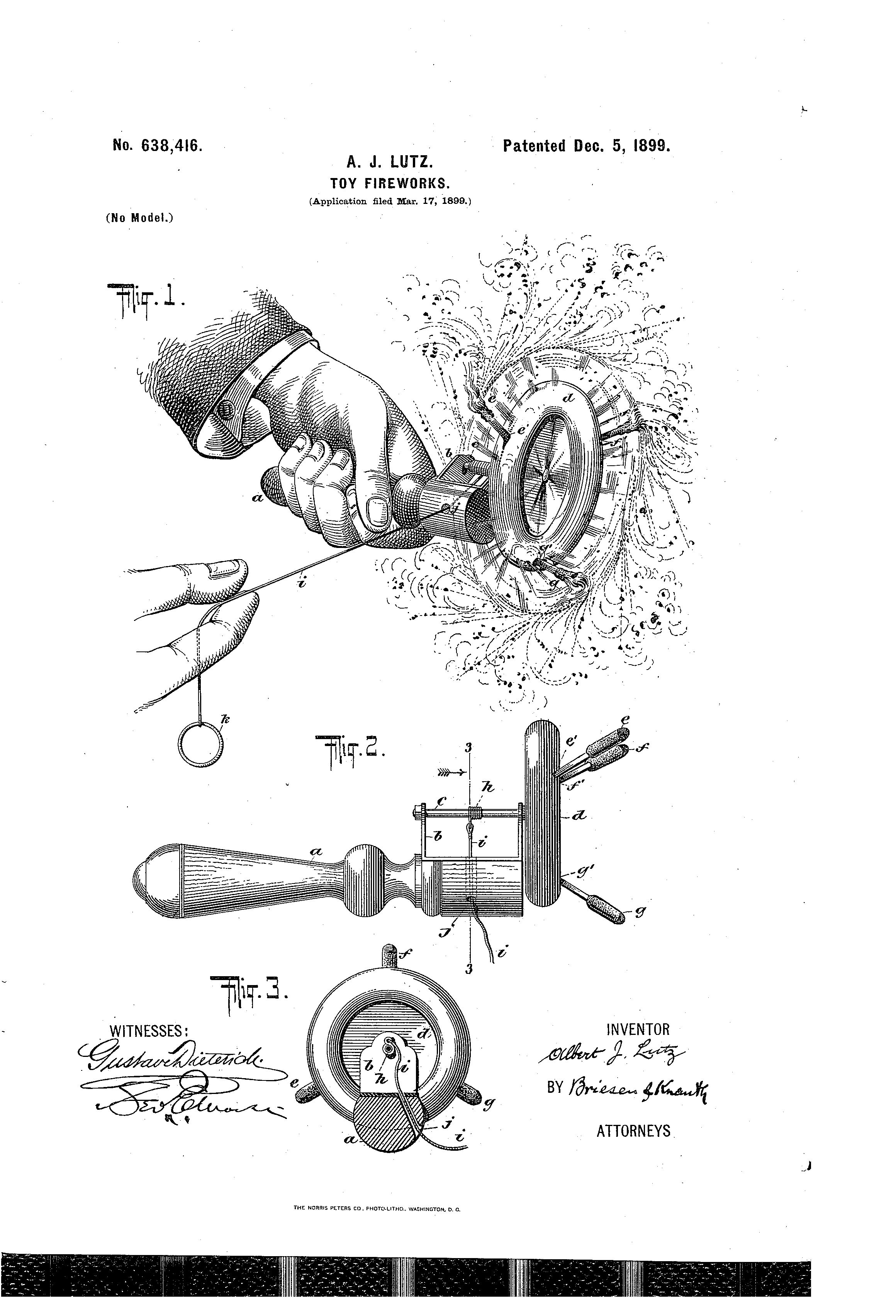 Independence Day Innovations - Toy Fireworks Patent