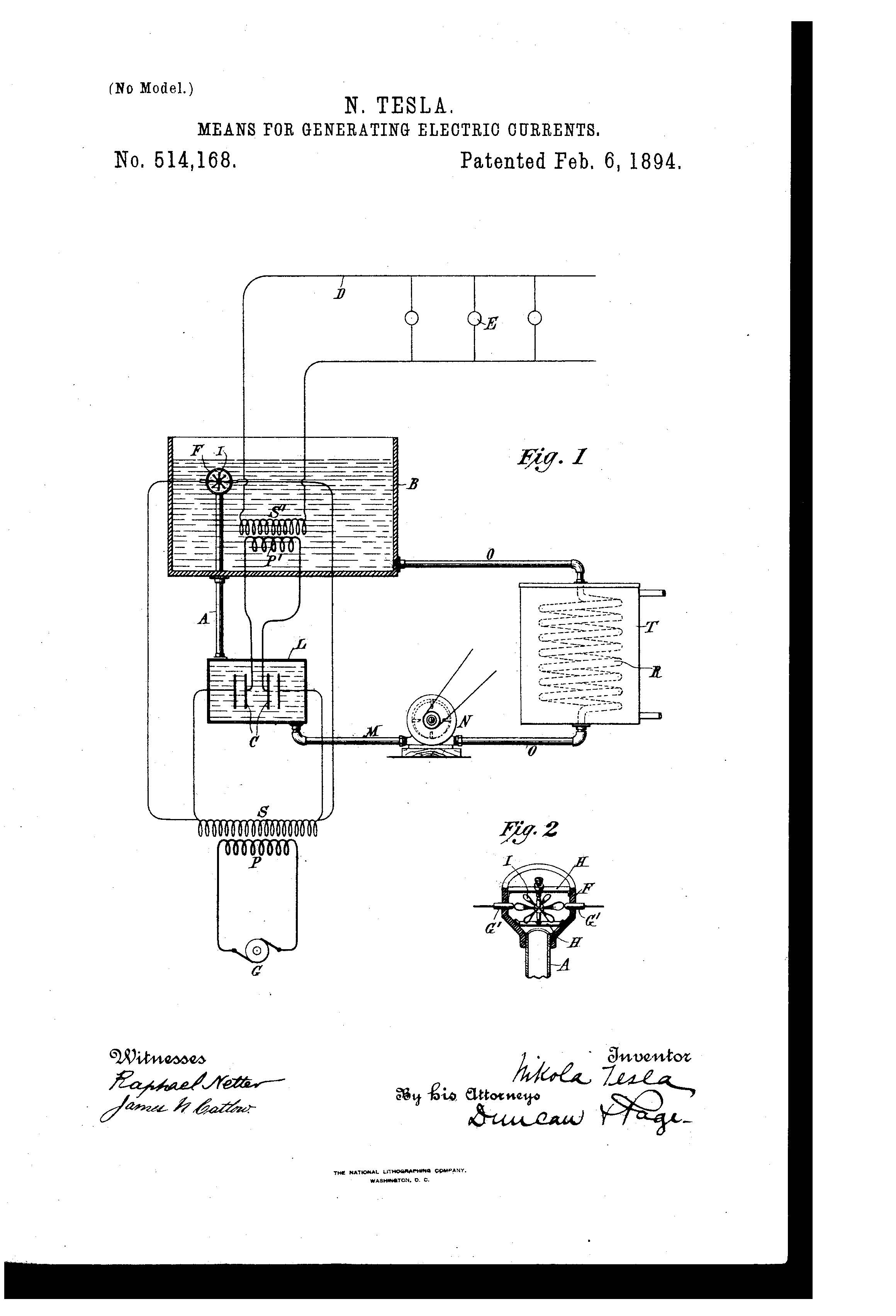 Patent of the Day: Means for Generating Electric Currents | Suiter ...