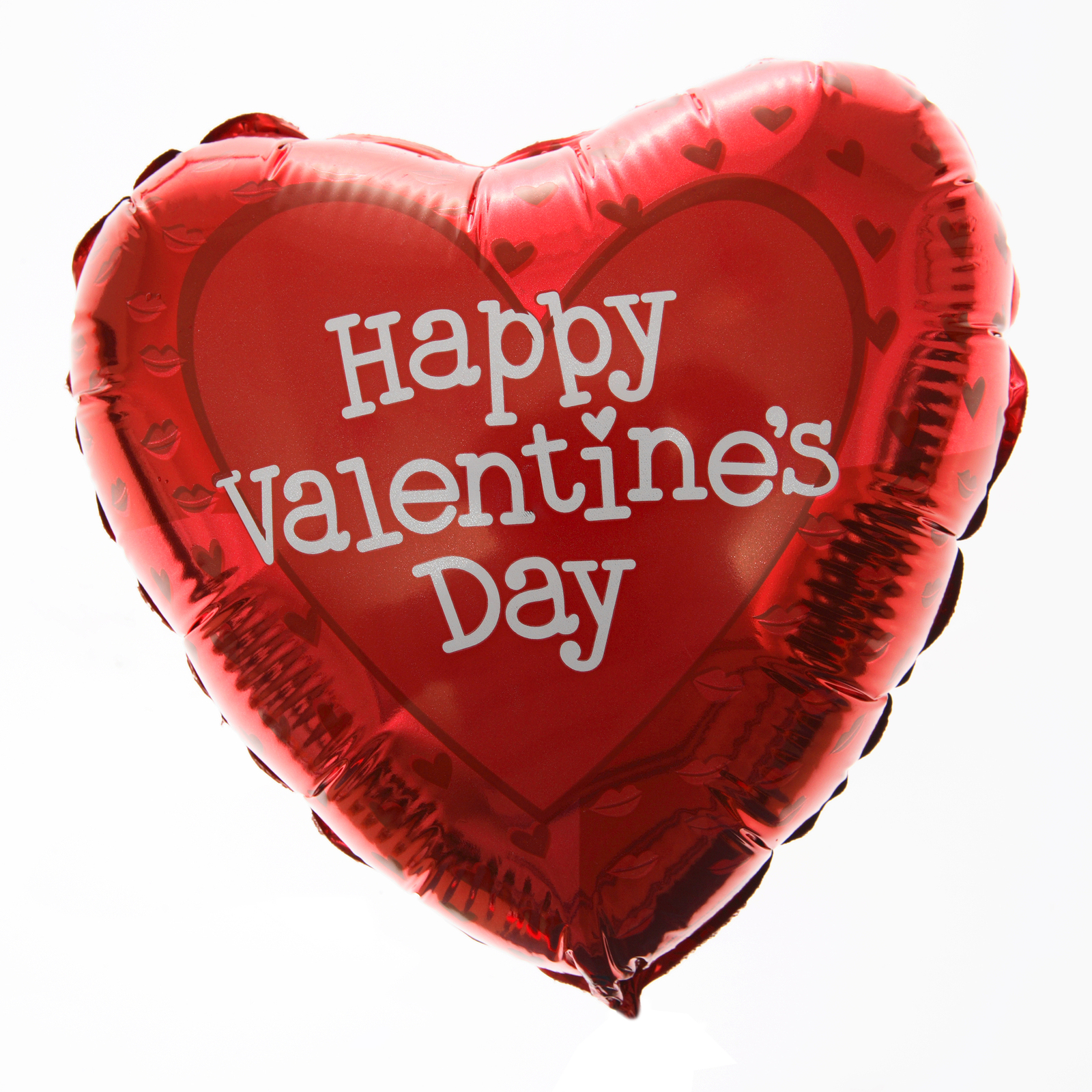 Happy Valentines Red Heart Shaped Balloon