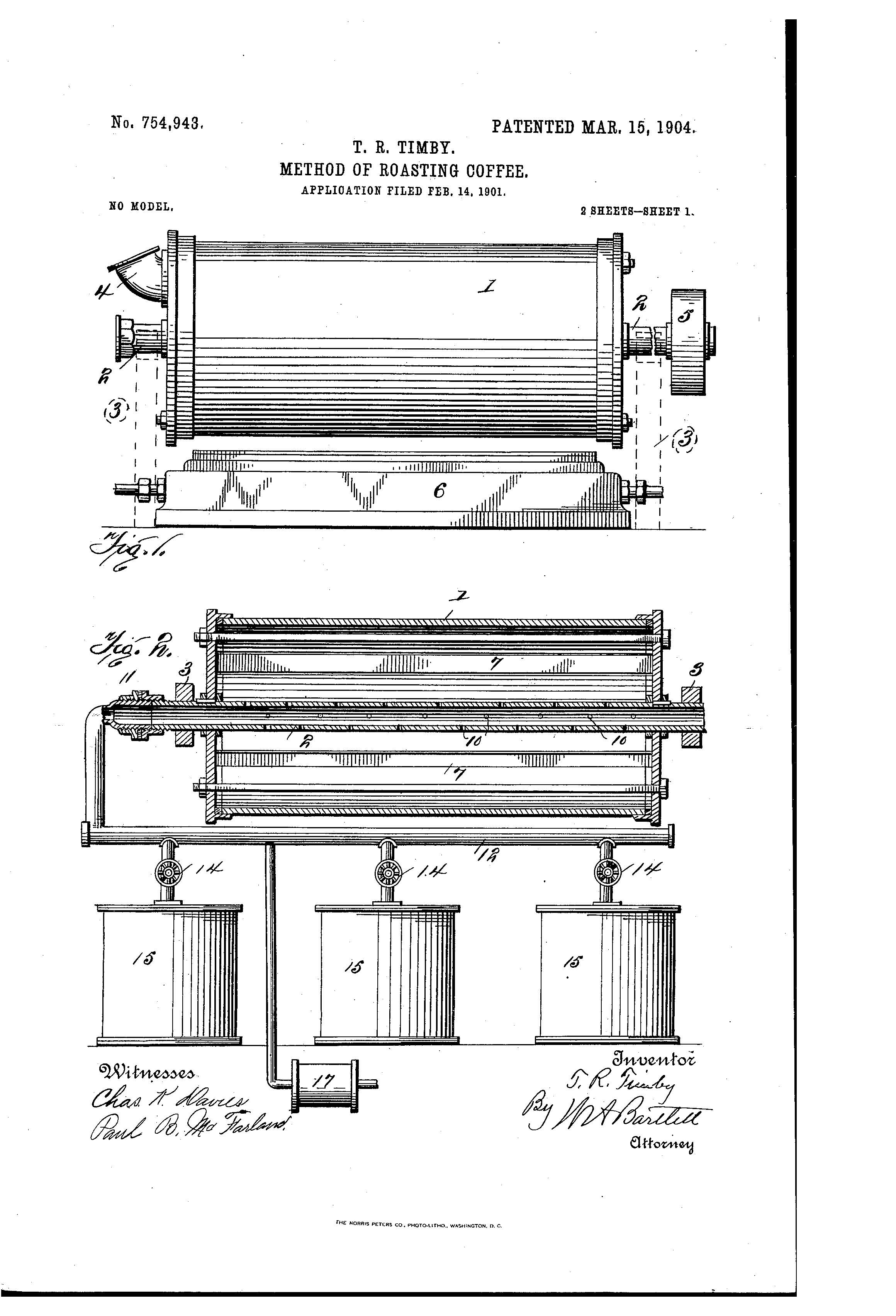 Patent of the day method of roasting coffee suiter swantz ip patent of the day method of roasting coffee pooptronica Images