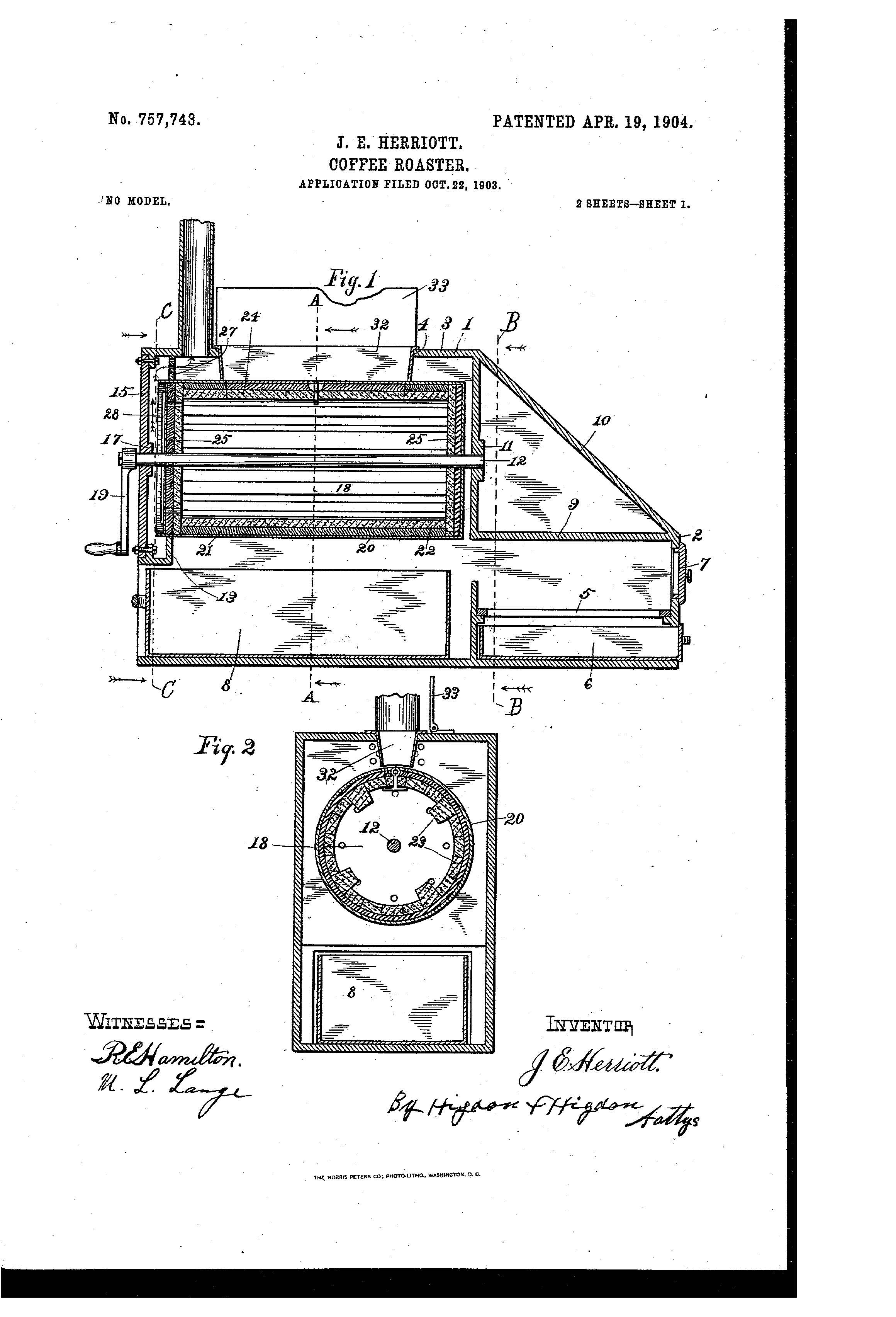 Patent of the day coffee roaster suiter swantz ip patent of the day coffee roaster pooptronica Images