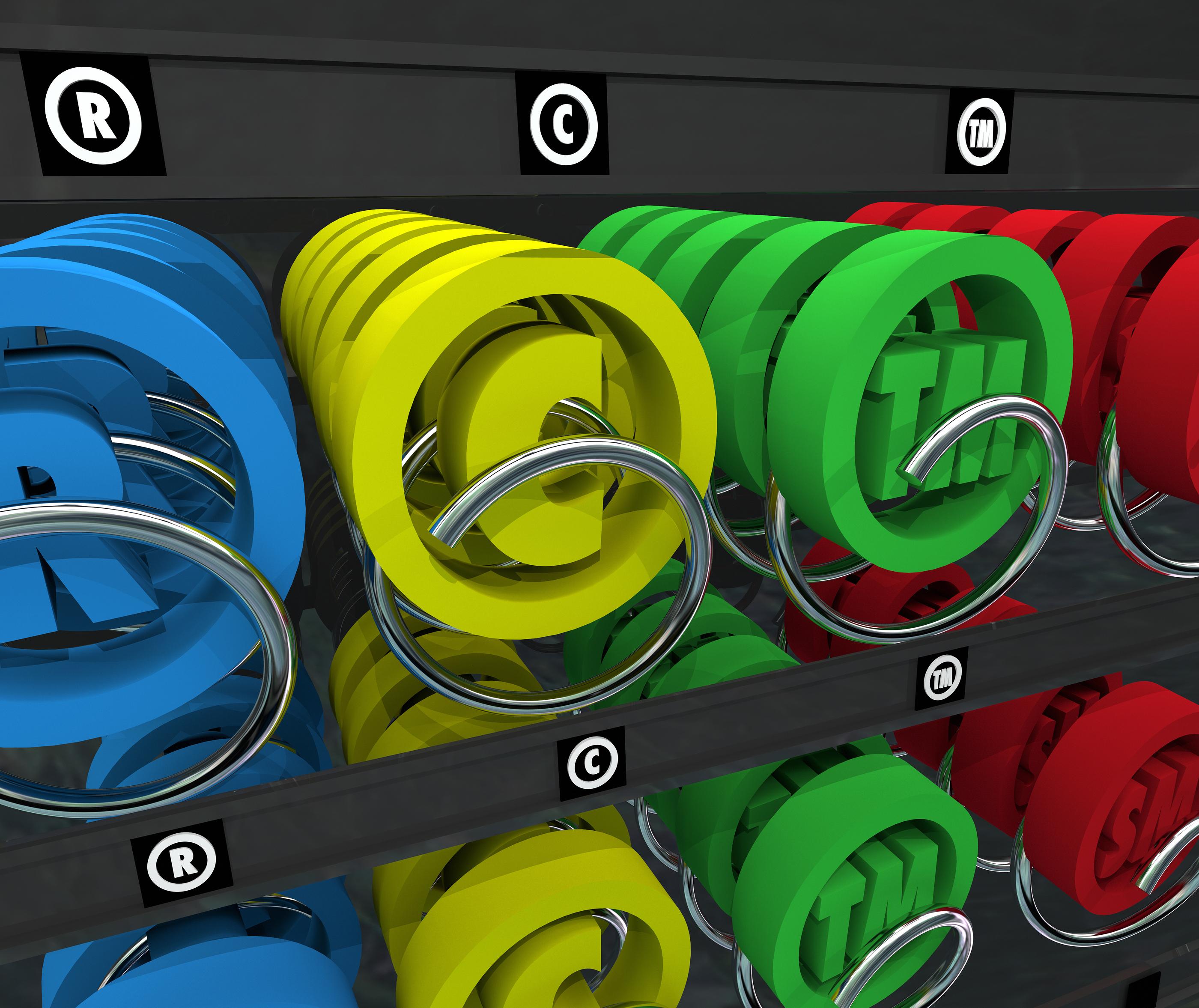 Copyright and Trademark vending machine