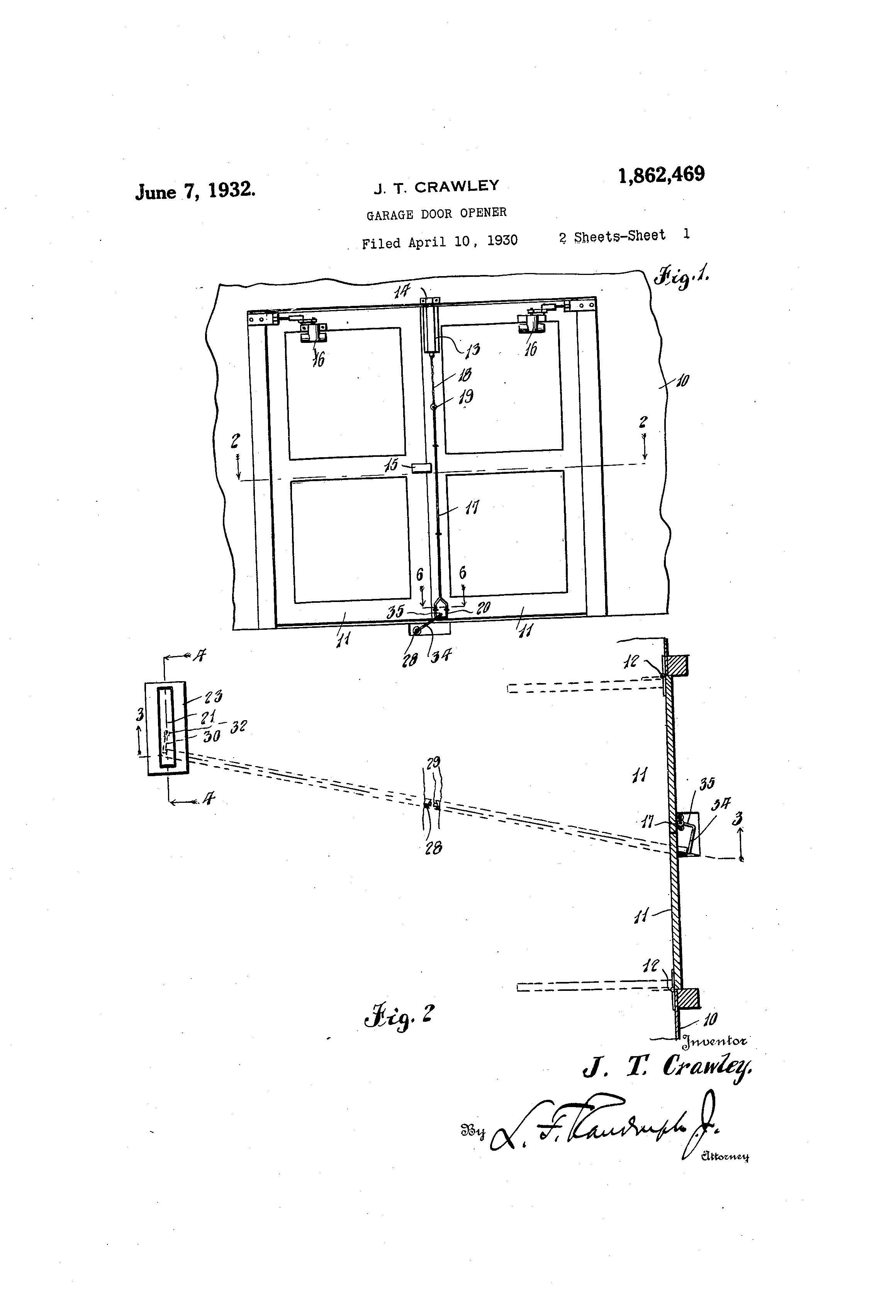 Patent Of The Day Garage Door Opener Suiter Swantz Ip