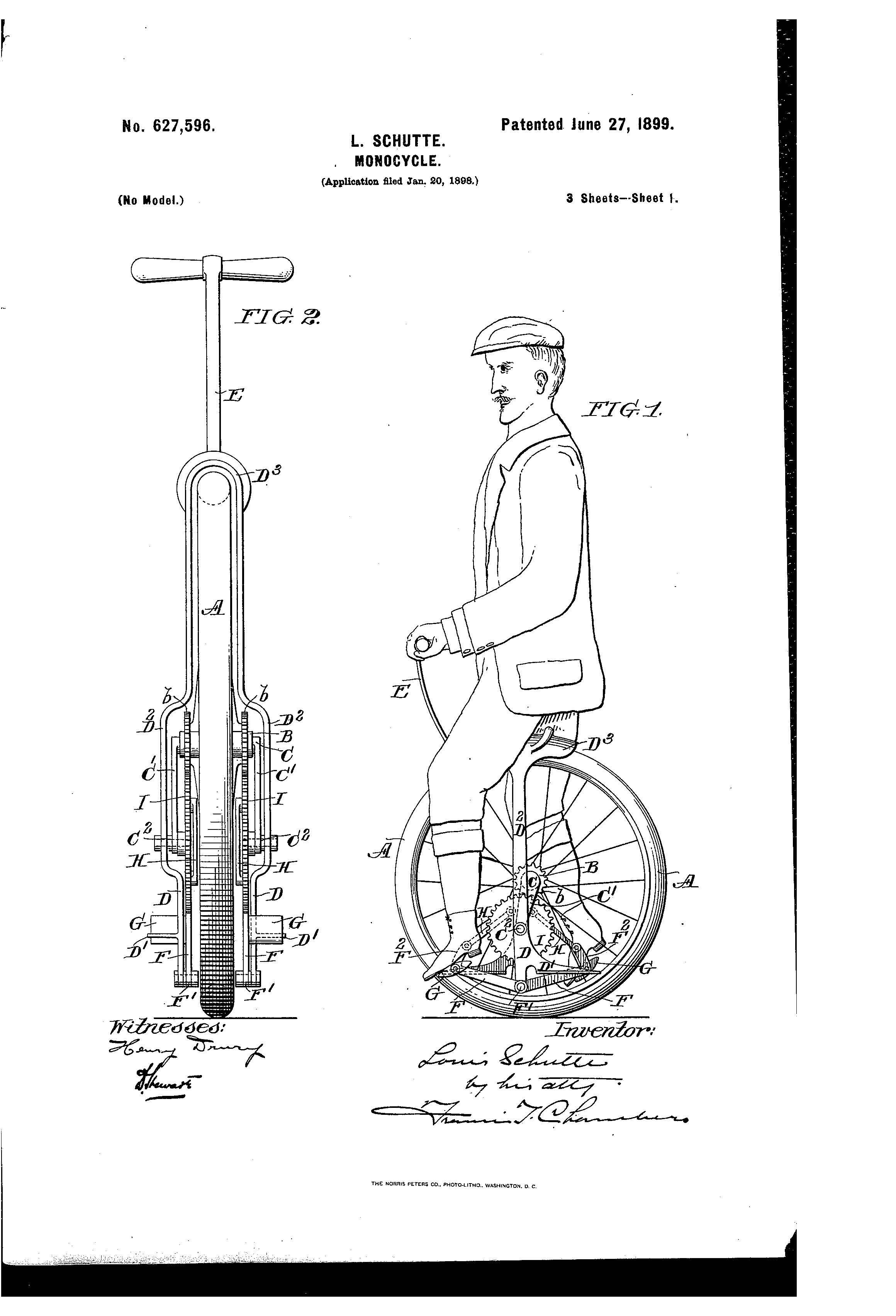 patent for monocycle