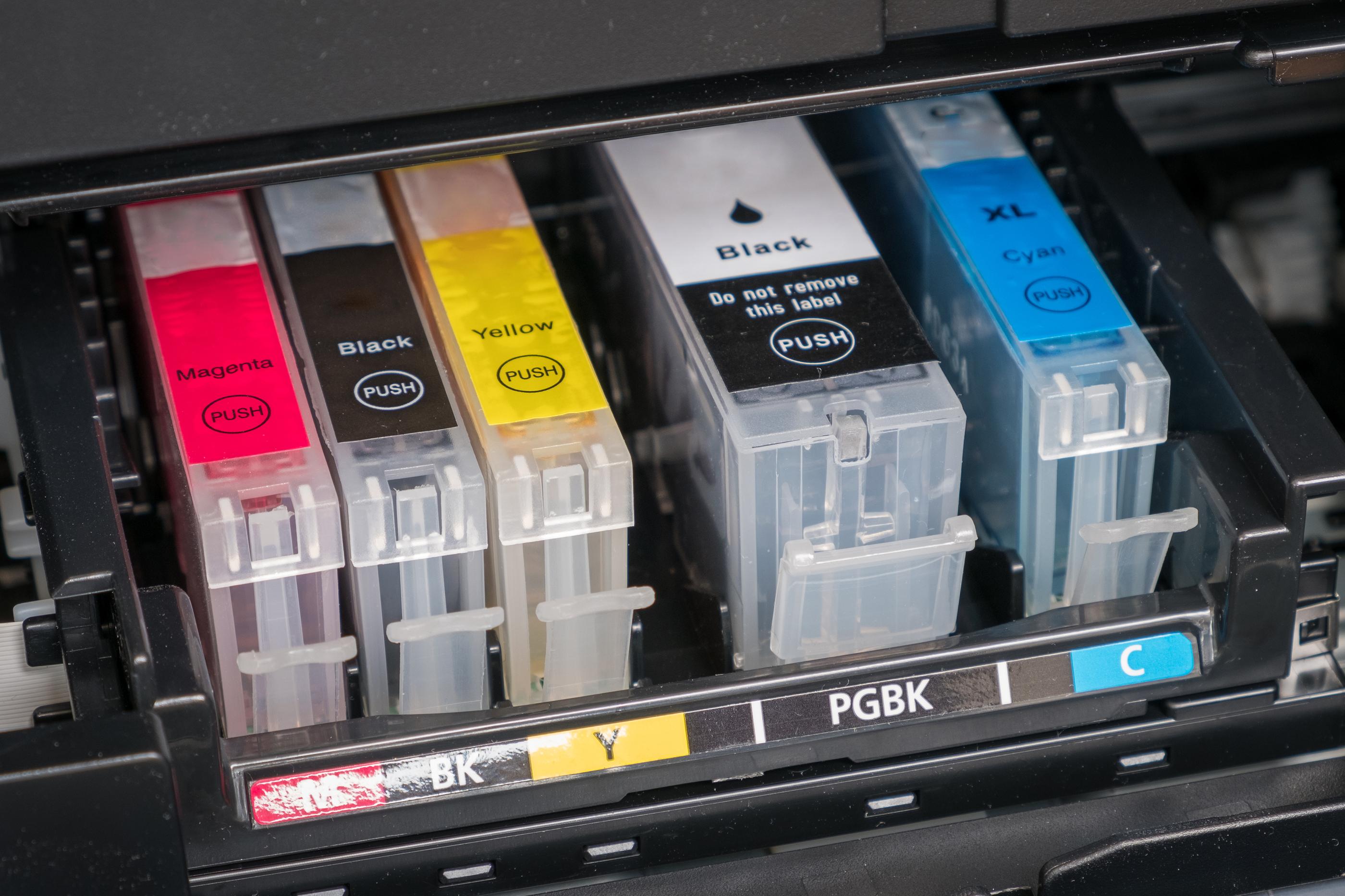 Ink Cartridges in a printer