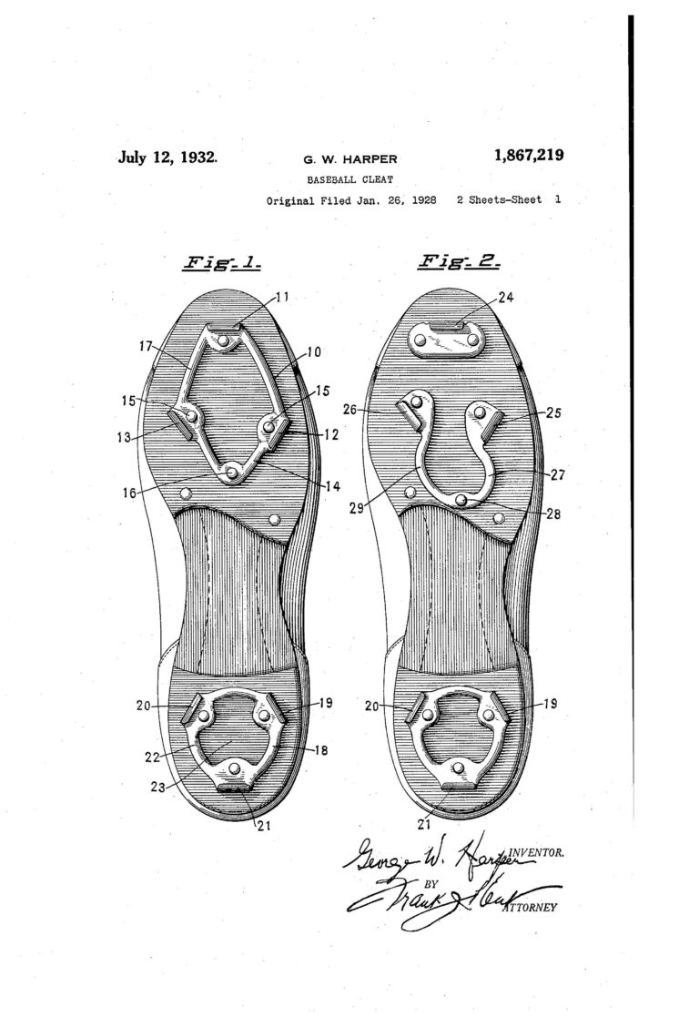 Patent Of The Day Baseball Cleat
