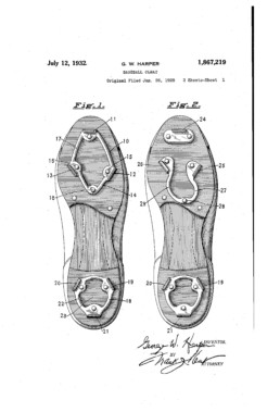 Baseball Cleat Patent