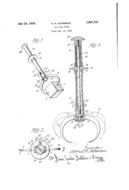 Ice Cube tongs Patent
