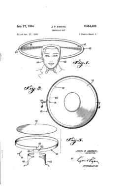 Umbrella Hat Patent