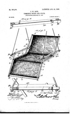 Combined Swing and Chair Patent