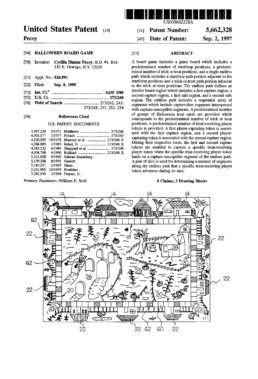 Halloween Board Game Patent