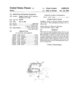 Mistletoe Headband Patent