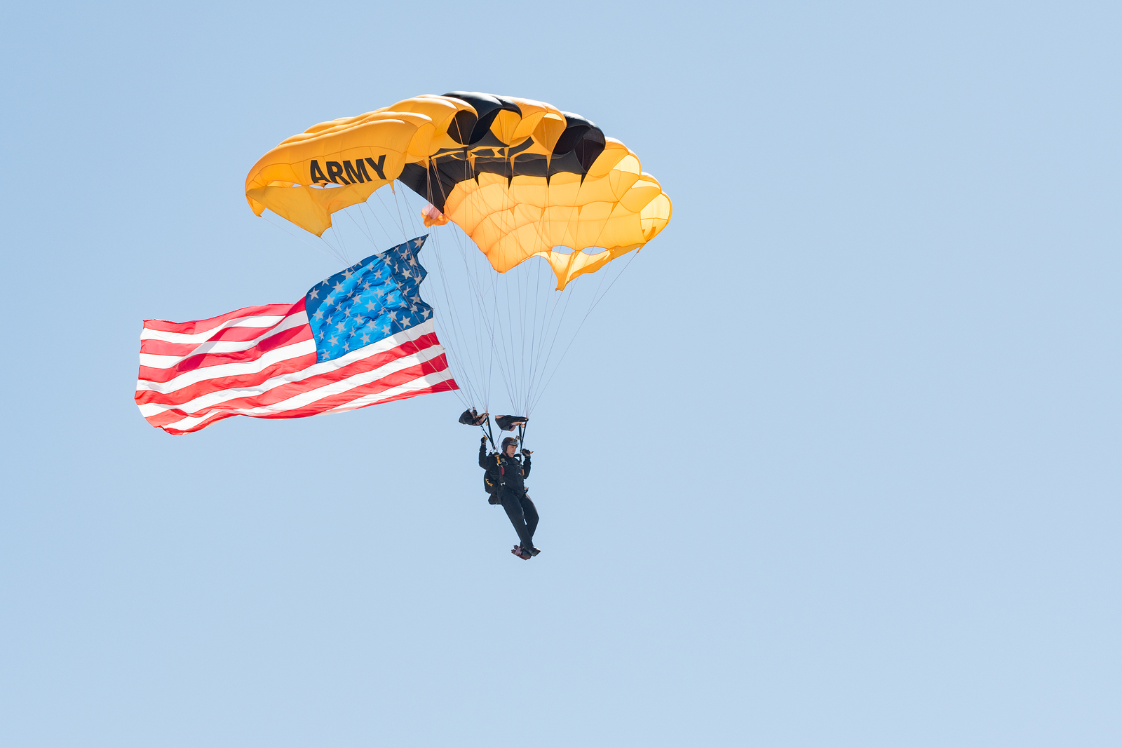 U.S Army Man Parachuting