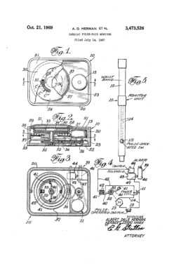 Cardiac Pulse Rate Monitor Patent