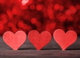 Three red hearts