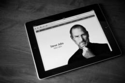 Steve Jobs on an iPad