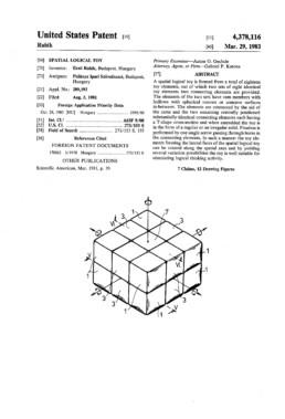 Rubik's Cube Patent