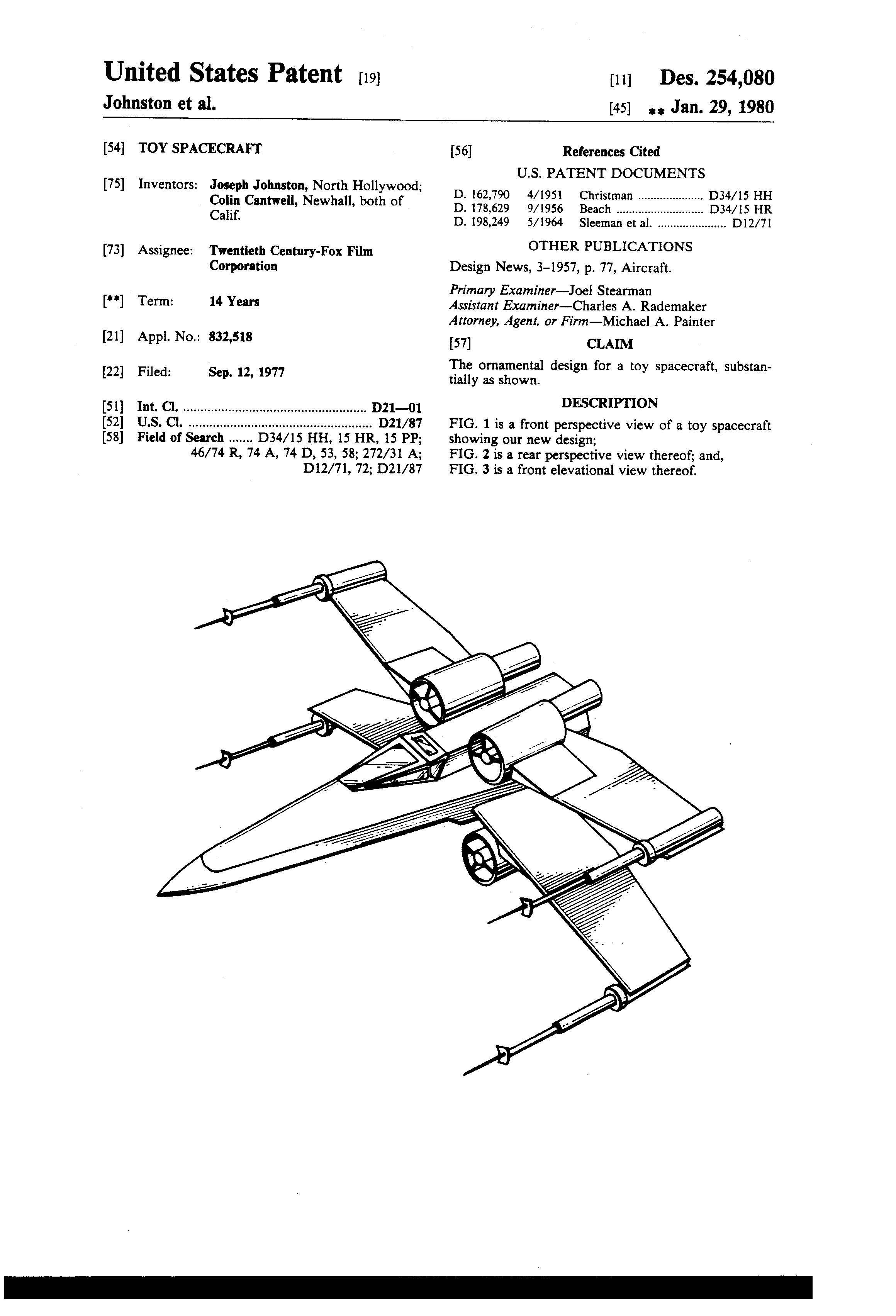 Star Wars Aircraft Patent