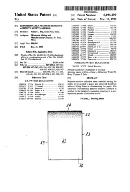 Post-It Note Patent