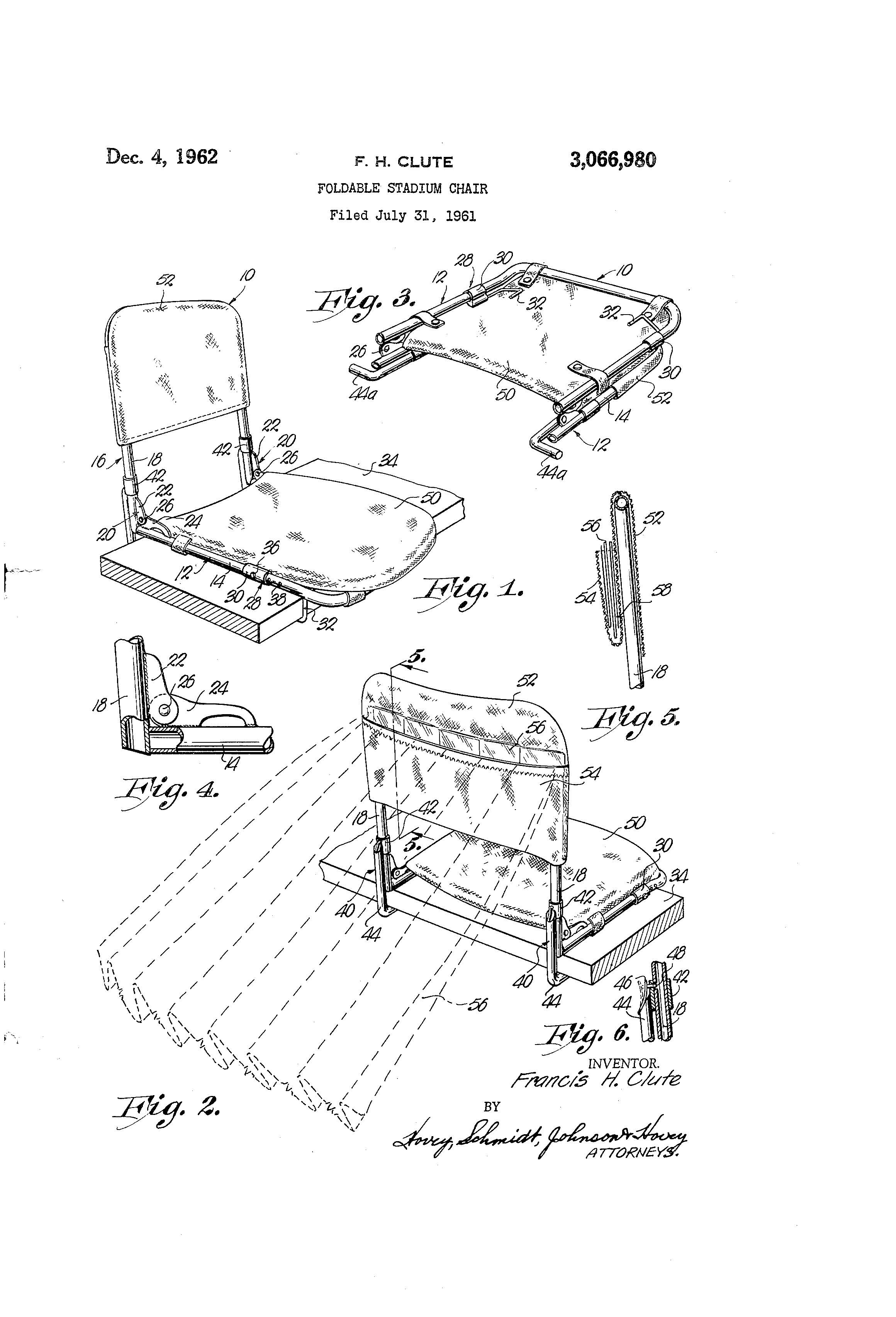 Stadium Folding Chair Patent