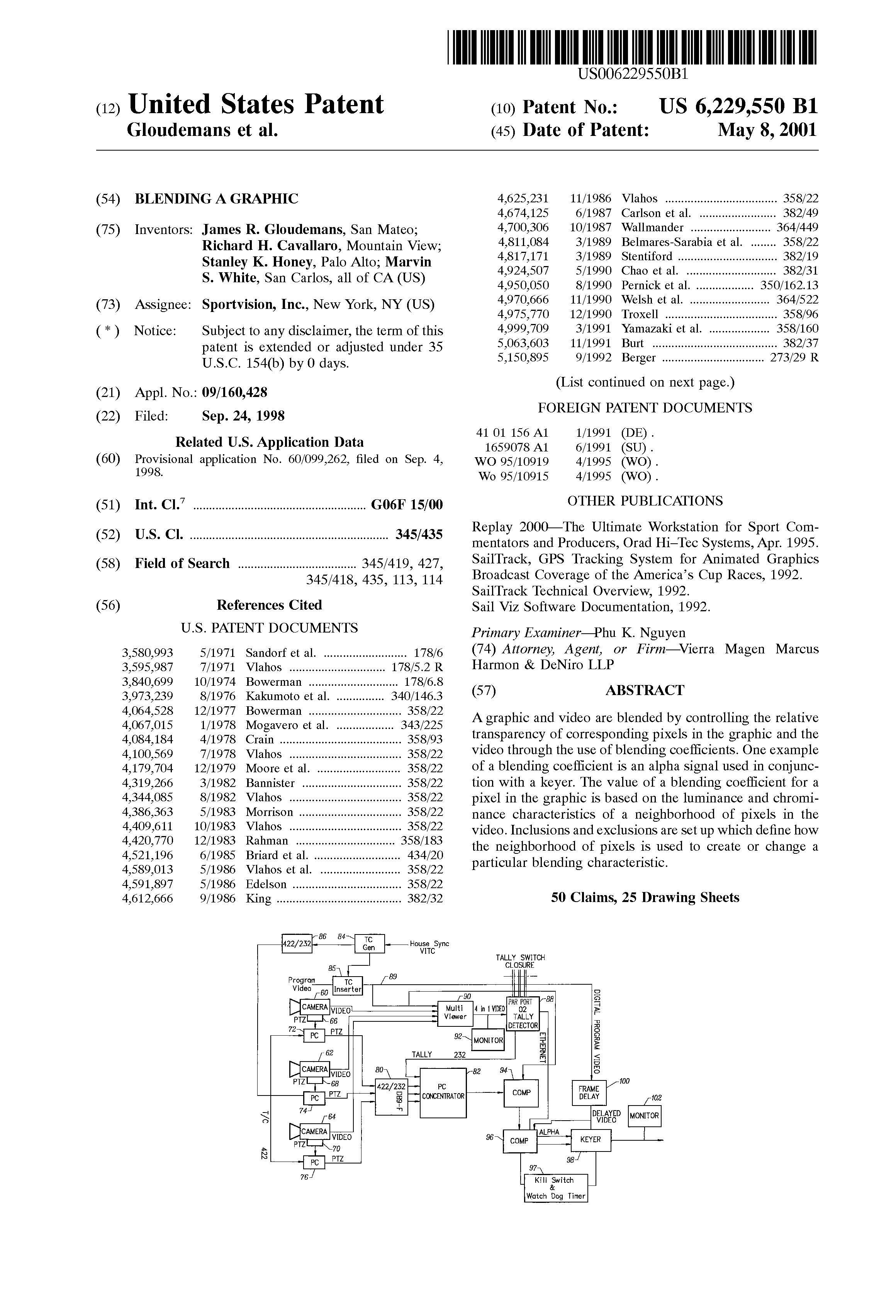 U.S Patent No. 6,229,550
