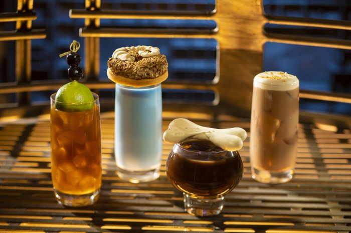 A few featured drinks at Oga's Cantina inside Star Wars: Galaxy's Edge theme park