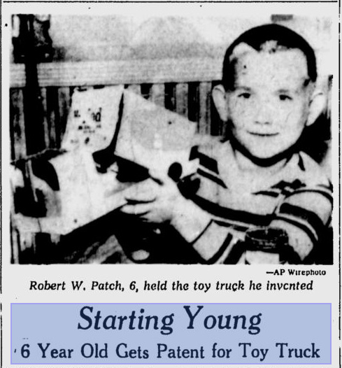 Robert W. Patch, youngest person to receive a United States patent