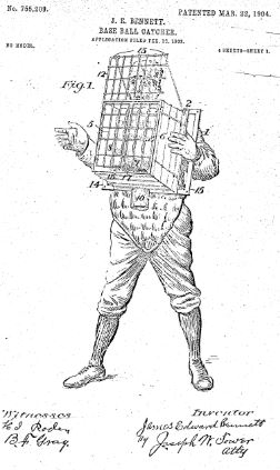 College World Series - Base Ball Catcher, U.S. Patent No. 755,209