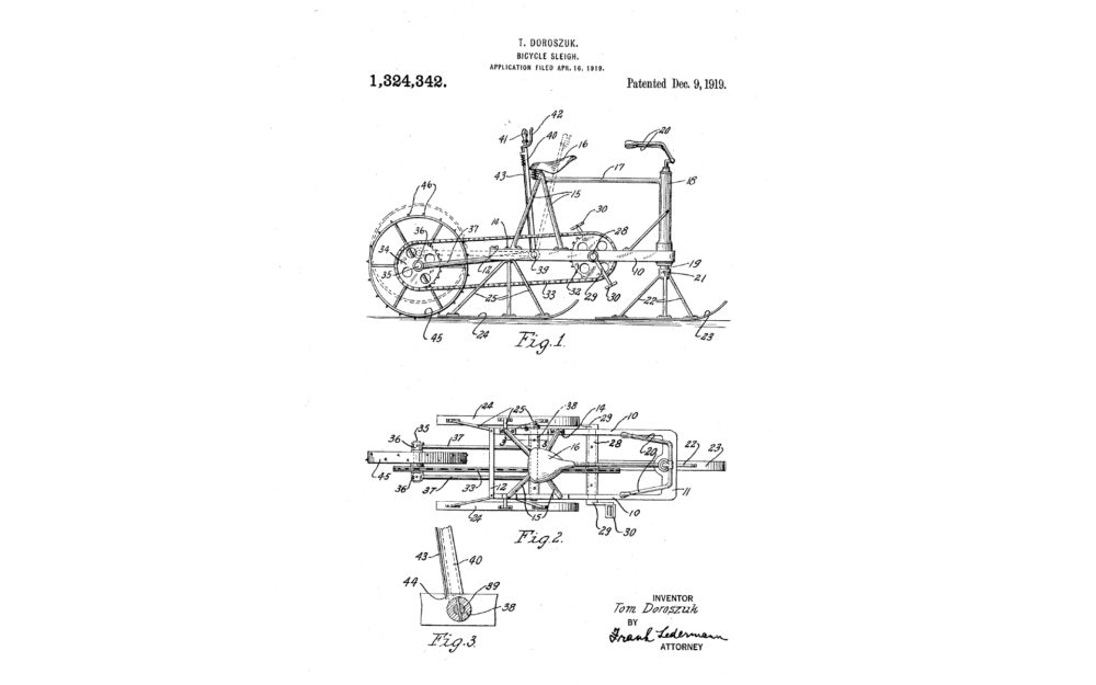 bicycle sleigh invention