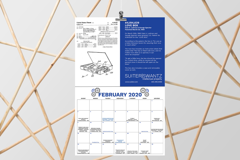 U.S. Patent Calendar 2020